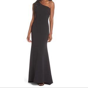 Eliza J Black one Shoulder gown